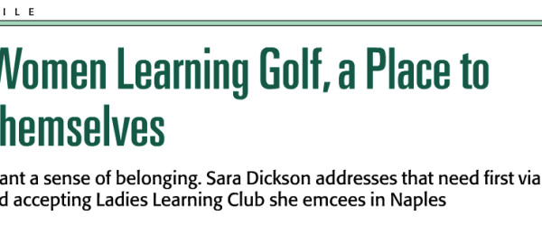 Golf Range Magazine MARCH 2014: For Women Learning Golf, A Place to Be Themselves